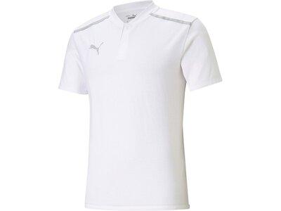 PUMA Herren Polo teamCUP Casuals Polo Weiß