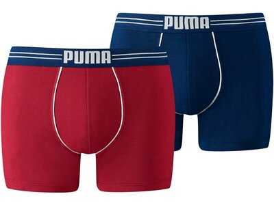 PUMA Herren Unterhose ATHLETIC BLOCKING BOXER 2P Rot