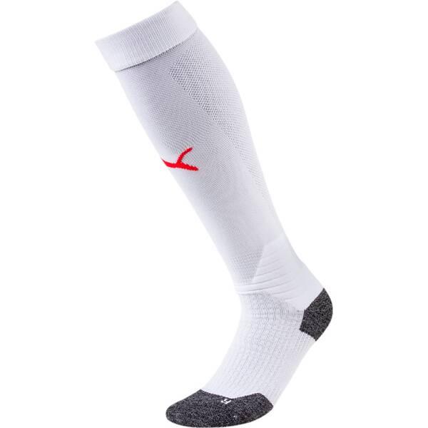 PUMA Herren Fußballsocken Team LIGA Socks | Sportbekleidung > Funktionswäsche > Fußballsocken | White - Red | PUMA