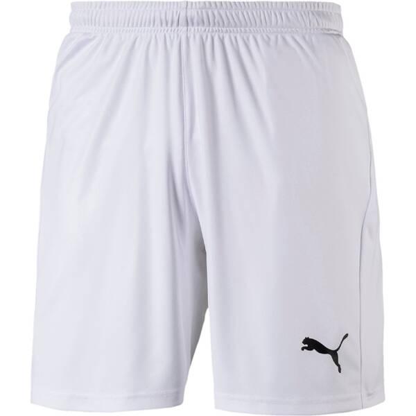 PUMA Herren Fußballshorts LIGA Shorts Core with Brief | Sportbekleidung > Sporthosen > Fußballhosen | White - Black | PUMA
