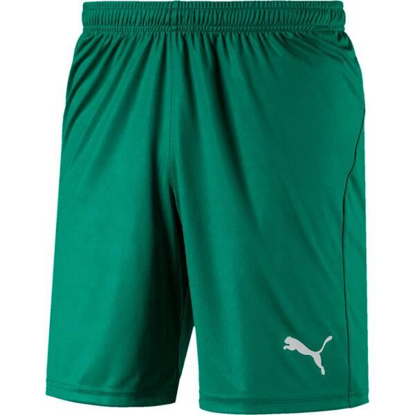 PUMA Herren Fußballshorts LIGA Shorts Core with Brief | Sportbekleidung > Sporthosen > Fußballhosen | Green - White | PUMA