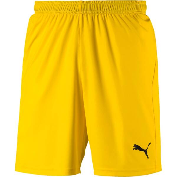 PUMA Herren Fußballshorts LIGA Shorts Core with Brief | Sportbekleidung > Sporthosen > Fußballhosen | Yellow - Black | Puma