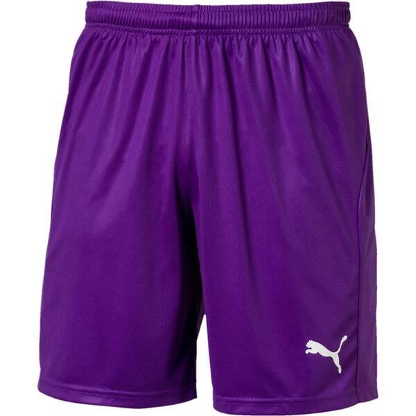 PUMA Herren Fußballshorts LIGA Shorts Core with Brief | Sportbekleidung > Sporthosen > Fußballhosen | Violet - White | Puma