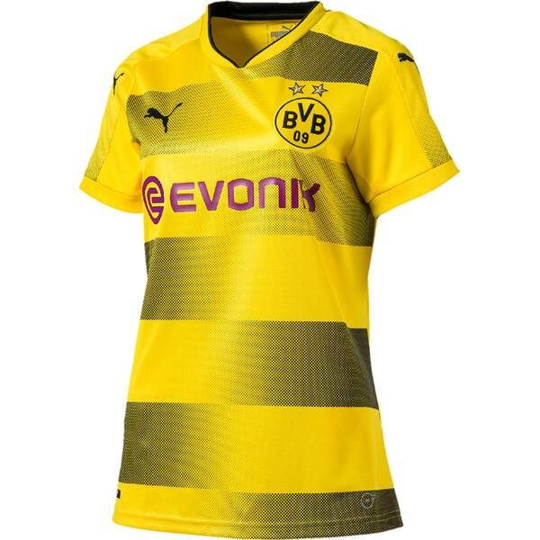 Puma Damen Fußballtrikot BVB Wms Home Replica Shirt wit