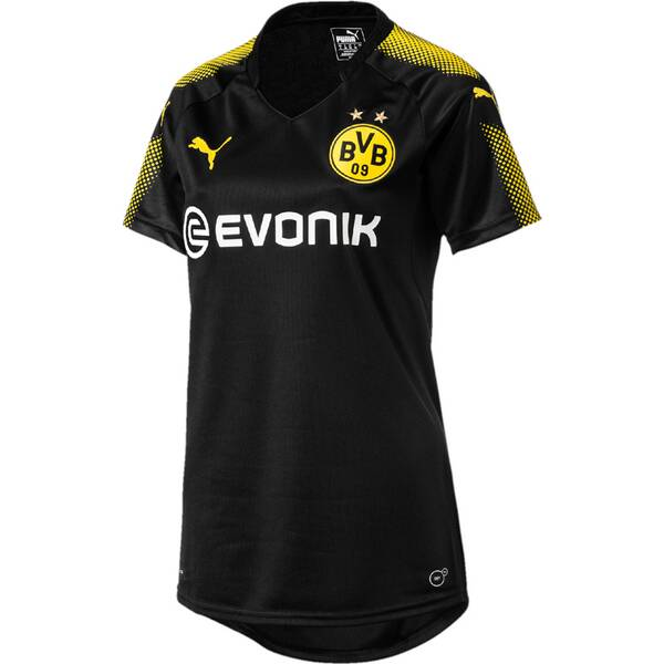 Puma Damen Fußballtrikot BVB Wms Away Replica Shirt wit