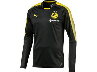Puma Herren Shirt BVB LS Training Jersey mit Sp Schwarz