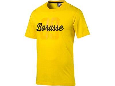 Puma Herren T-Shirt BVB BORUSSE Tee Gold