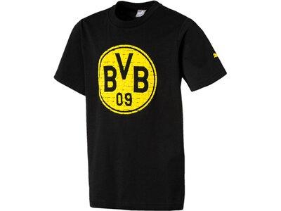 Puma Kinder T-Shirt BVB Fan Tee Jr Schwarz