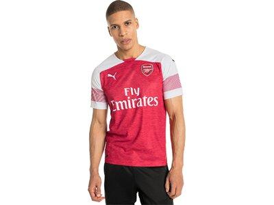 PUMA Herren Trikot Arsenal FC HOME Shirt Replica SS with EPL Sponsor Logo Rot
