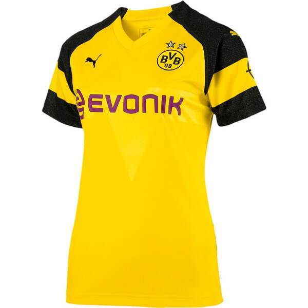 PUMA Damen Trikot BVB Wms Home Shirt Replica with Evonik Logo with OPEL Logo
