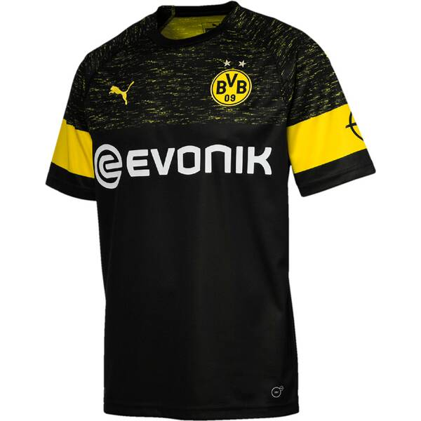 PUMA Herren Trikot BVB Away Shirt Replica with Evonik Logo with OPEL Logo
