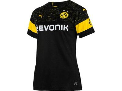 PUMA Damen Trikot BVB Wms Away Shirt Replica with Evonik Logo with OPEL Logo Schwarz