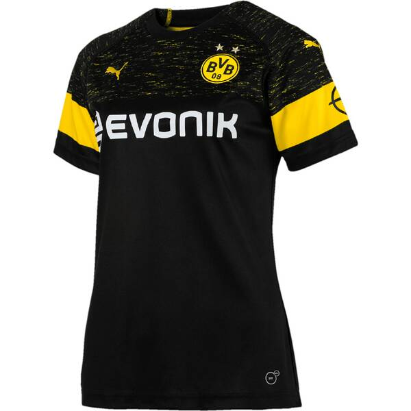 PUMA Damen Trikot BVB Wms Away Shirt Replica with Evonik Logo with OPEL Logo