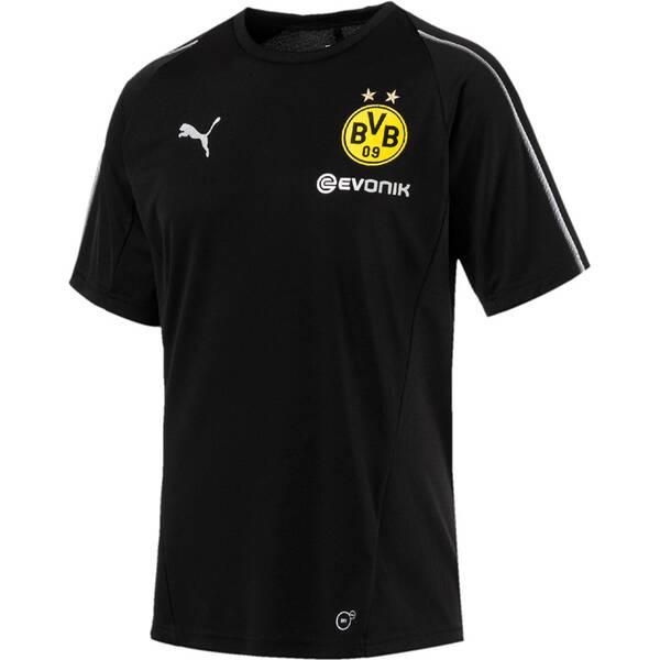 PUMA Herren T-Shirt BVB Training Jersey with Sponsor Logo | Sportbekleidung > Sportshirts > Poloshirts | Black | Puma