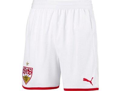 PUMA Kinder Fußballshorts VfB Stuttgart Replica Shorts Jr with innerslip Weiß