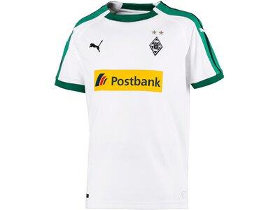 PUMA Kinder Trikot BMG Home Shirt Replica Jr with Sponsor Logo Weiß