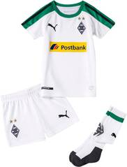 PUMA Kinder Trikot BMG Home Minikit with socks with Sponsor Logo with hanger