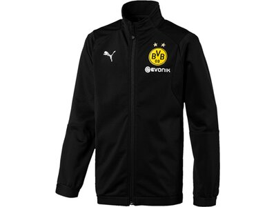 PUMA Kinder Trainingsjacke BVB Poly Jacket Jr with Sponsor Logo with 2 side pockets wit Schwarz