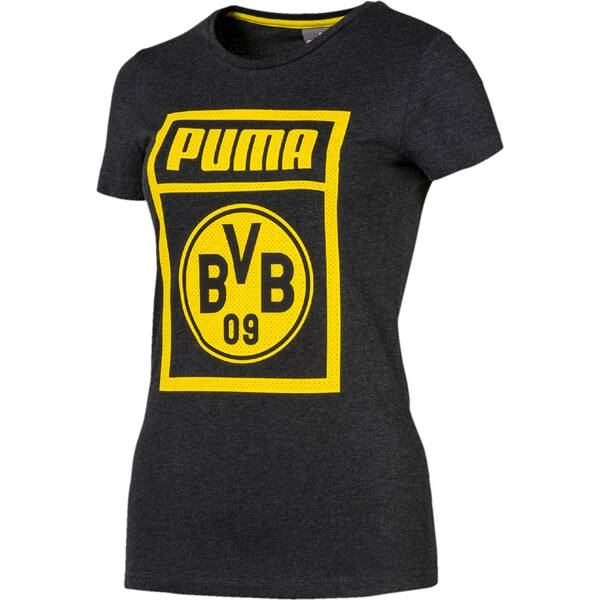 PUMA Damen Fanshirt BVB | Sportbekleidung > Sportshirts > Fanshirts | Dark - Gray | PUMA