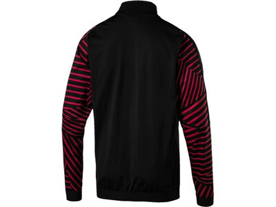 PUMA Herren Jacke AC Milan STADIUM Jacket with Sponsor Schwarz