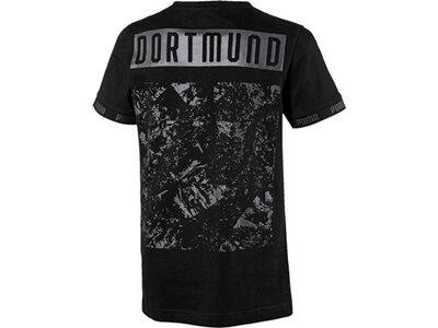 PUMA Kinder T-Shirt BVB FtblCulture Tee Jr Schwarz