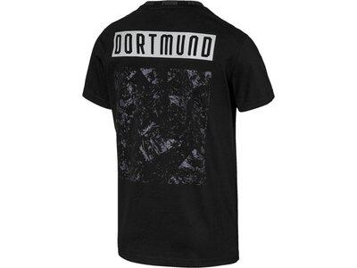 PUMA Damen T-Shirt BVB FtblCulture Tee Schwarz