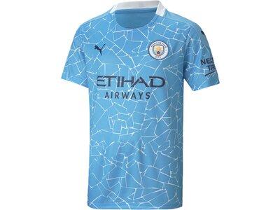 PUMA Kinder Fantrikot MCFC HOME Shirt Replica SS Blau