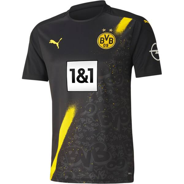 PUMA Herren Fantrikot BVB AWAY Shirt Replica SS