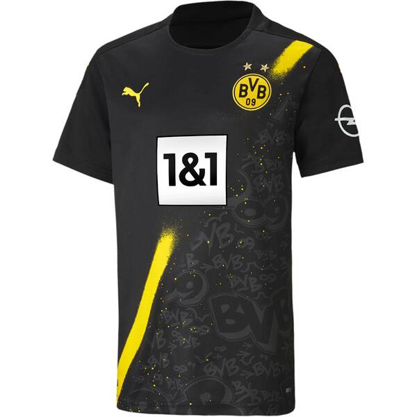 PUMA Kinder Fantrikot BVB AWAY Shirt Replica SS