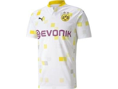 PUMA Herren Fantrikot BVB THIRD Shirt Replica SS Weiß
