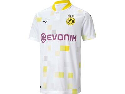 PUMA Kinder Fantrikot BVB THIRD Shirt Replica SS Weiß