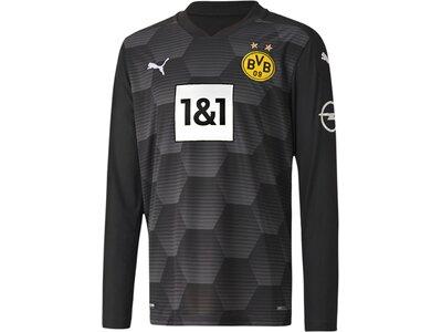 PUMA Kinder Fantrikot BVB GK Shirt Replica LS Jr Schwarz
