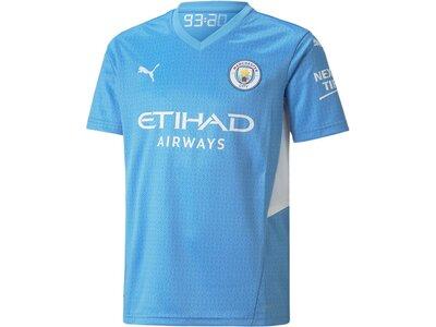 PUMA Kinder Fantrikot MCFC HOME Shirt Jr wSponso Blau
