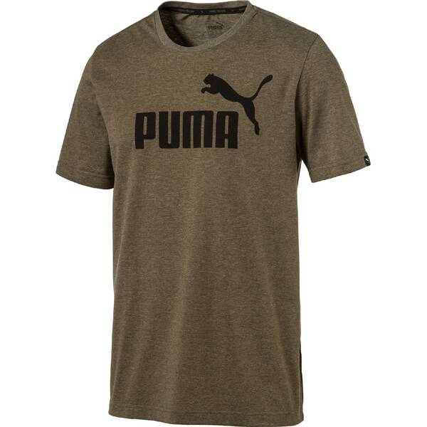Puma Herren T-Shirt ESS No.1 Heather Tee Grün