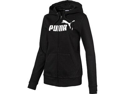 Puma Damen Hoodie ESS No.1 FZ Hoody FL W Schwarz