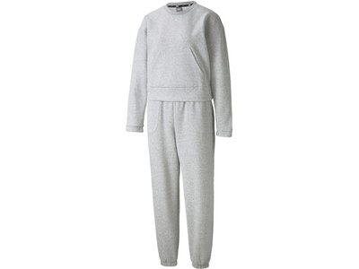 PUMA Damen Sportanzug Loungewear Suit Grau