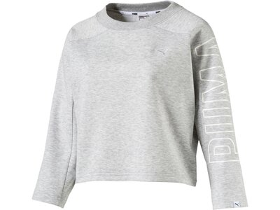Puma Damen 7/8 Sweatshirt FUSION Cropped Grau