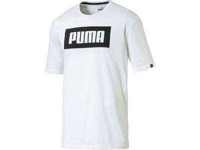 Puma Herren T-Shirt Rebel Basic Tee Weiß