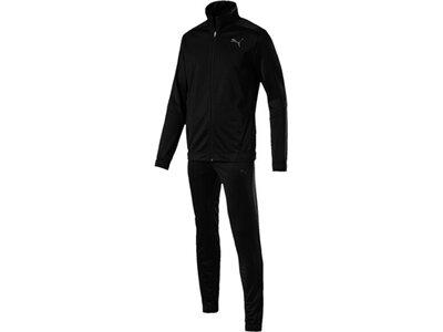 PUMA Herren Sportanzug Techstripe Tricot Suit CL Schwarz