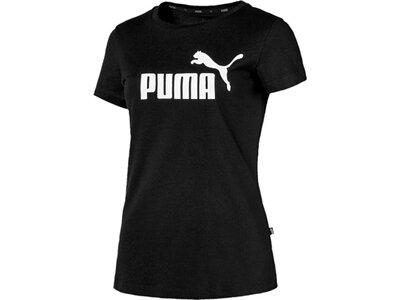 PUMA Damen T-Shirt ESS Logo Tee Schwarz