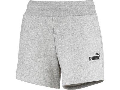 PUMA Damen Shorts ESS Sweat Shorts TR Silber