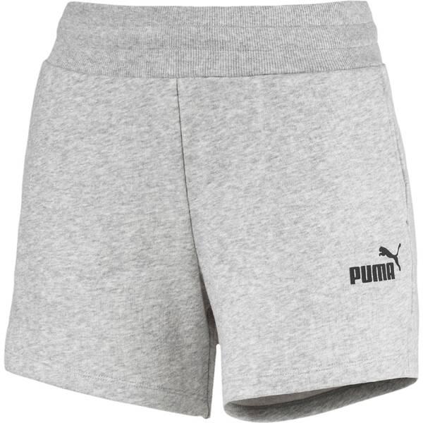 Hosen - PUMA Damen Shorts ESS Sweat Shorts TR › Silber  - Onlineshop Intersport