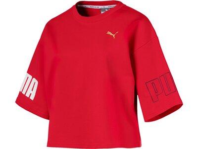 """PUMA Damen Trainingsshirt """"Modern Sport Sweat Tee"""" Dreiviertellang Rot"""