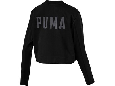 PUMA Damen Sweatshirt FUSION Cropped Crew Sweat Schwarz