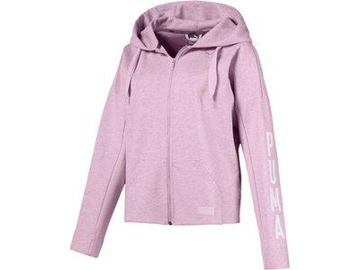 PUMA Damen Sweatshirt FUSION FZ Hoody Silber