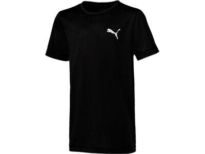 PUMA Kinder T-Shirt Active Tee B Schwarz