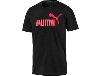 PUMA Herren T-Shirt ESS Logo Tee Schwarz