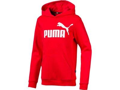 PUMA Kinder Hoodie ESS Logo Hoody TR B Rot