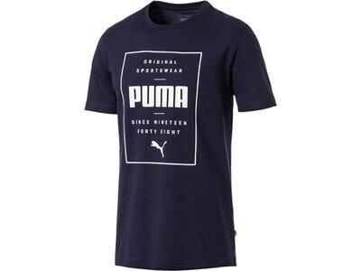 PUMA Herren T-Shirt Box PUMA Tee Schwarz