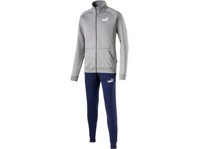 PUMA Herren Trainingsanzug Clean Sweat Suit CL Silber